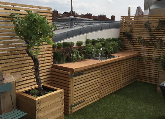 Jardin et terrasse à Paris - Chantier